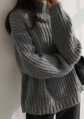 Always A Good Idea Knit Turtleneck Sweater