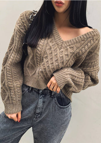 She Was A Forgiver Cable Knit Sweater