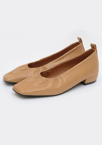 Passion Fruit Shirring Flat Shoes (2.5cm)