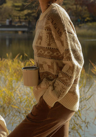 Fashion Avenue Nordic Pattern Knit Sweater