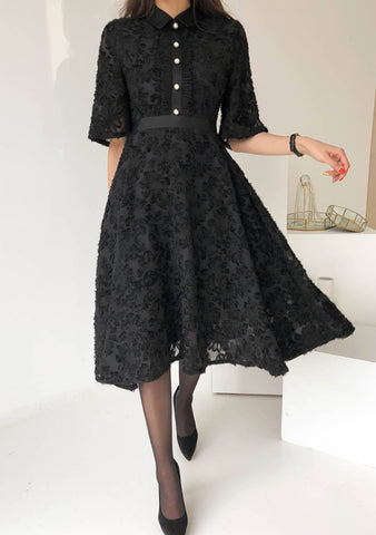 Deep Space Lace Dress
