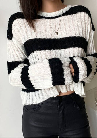 October To Remember Stripes Knit Top
