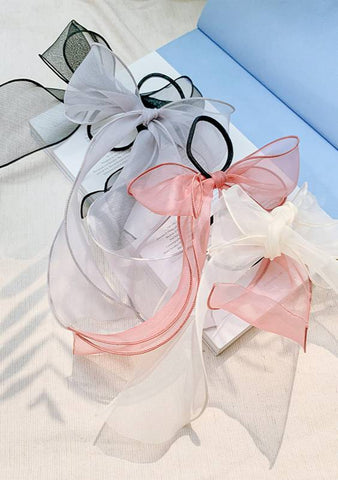 Mesh Waves Ribbon Hair Tie