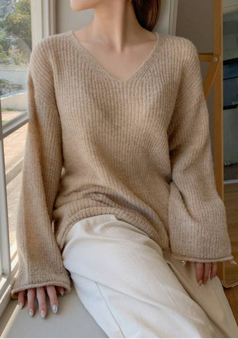 Catherine Ribbed Knit Sweater