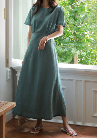 Mystical Creature Linen Long Dress