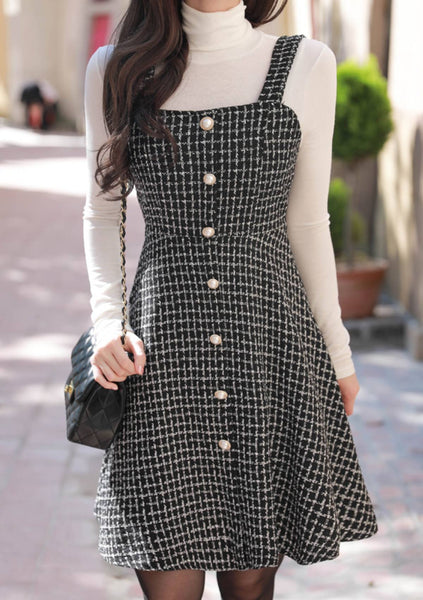 For The Love Of Tweed Button Dress