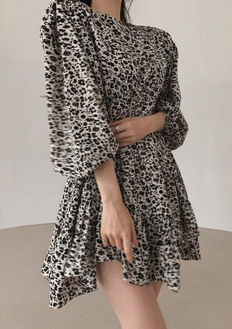Winter Song Leo Print Dress