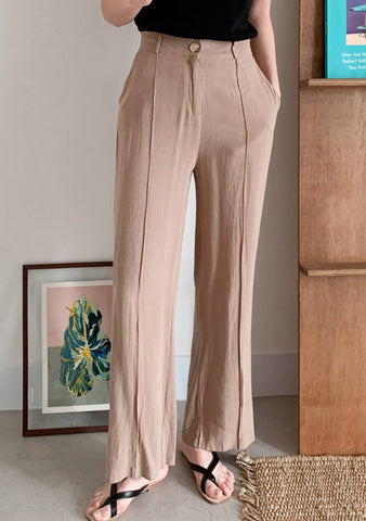 Anderson Pintuck Wide Linen Pants