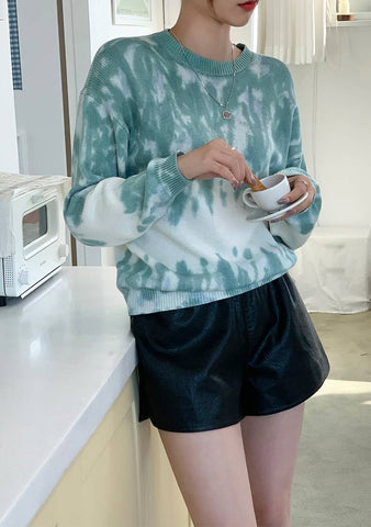 Cloudy Tie And Dye Knit Sweater