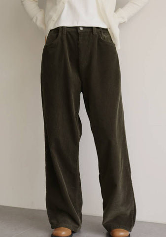 Flutter Corduroy Pants [Brown]