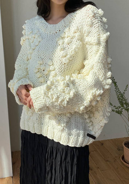 Pom Pom Lovers Knit Sweater