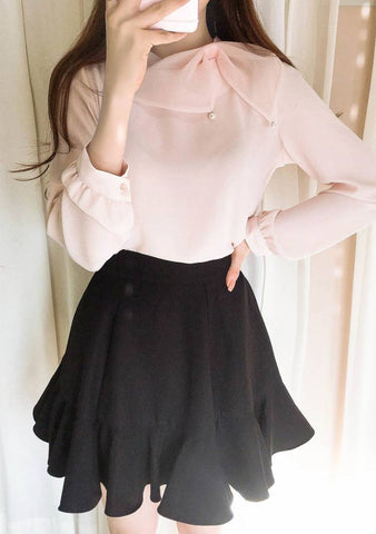 No Hesitation Ribbon Blouse