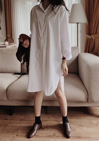 The Other Way Around Shirt Dress