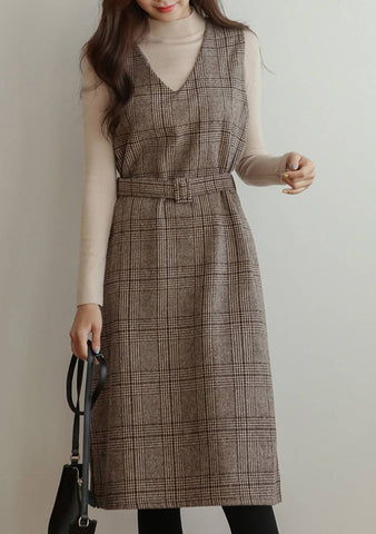 Am Empire Together Wool Sleeveless Dress