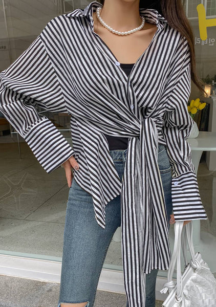 If I Hear You Stripes Blouse