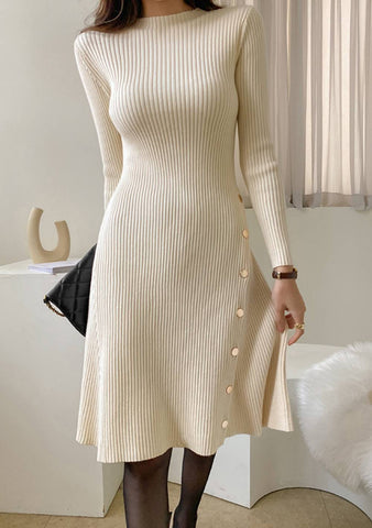 New Business Ribbed Dress