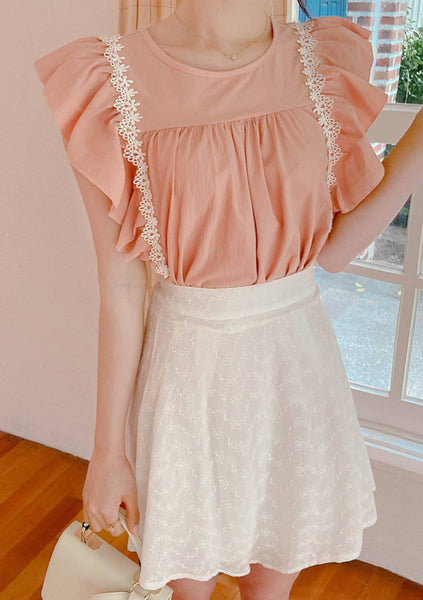 Art Is Therapy Ruffle Blouse