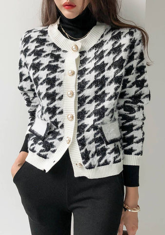 Cheer Houndstooth Cardigan