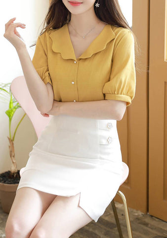 I Think This Is Brave Collar Blouse