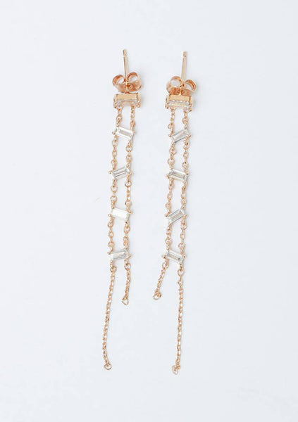 Five Cubic Drop Earring