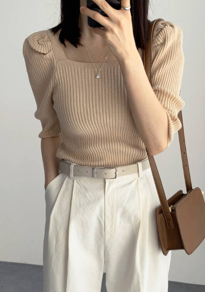 Here You Are Knit Boat Neck Top