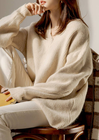 True Happiness V-Neck Knit Sweater
