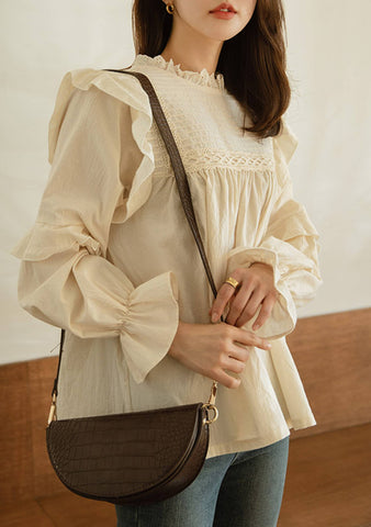 Cloud Of Snow Puff Blouse