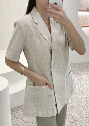 Birth New Worlds Short Sleeves Linen Jacket