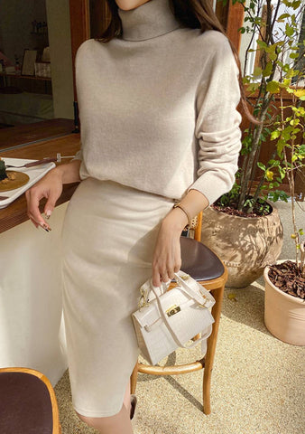 What You Attract Turtleneck Wool Knit Top