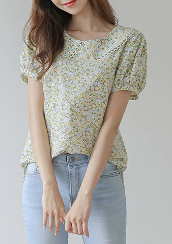 On The Bright Side Flower Blouse