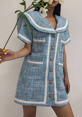 A Dream Is A Wish Linen Tweed Dress