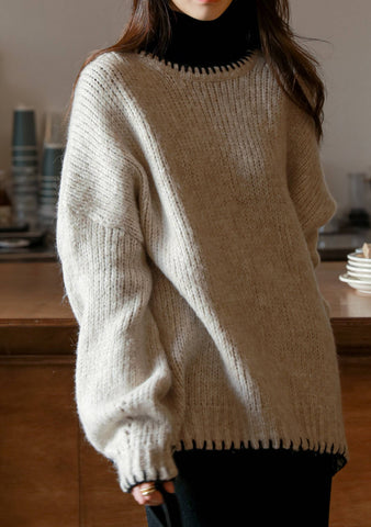 Play The Fool Knit Oversize Sweater