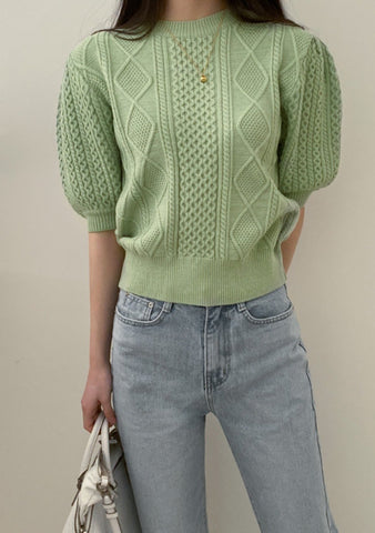 To See The Beauty Knit Short Sleeves Top