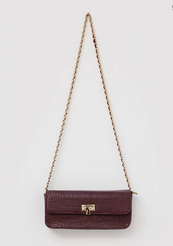 Square Chain Croc Mini Bag
