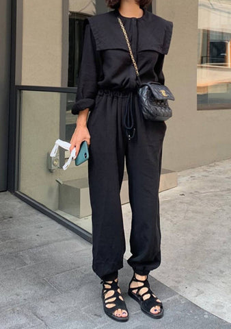 I Am On Purpose Collar Jumpsuit