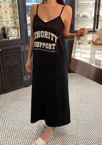 My Support Slit Long Dress