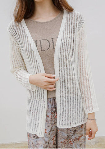 Loves In Color See-Through Cardigan