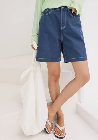 For A Great Day Denim Shorts