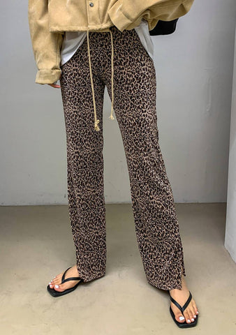 Form Of Self-Expression Leo Print Pants