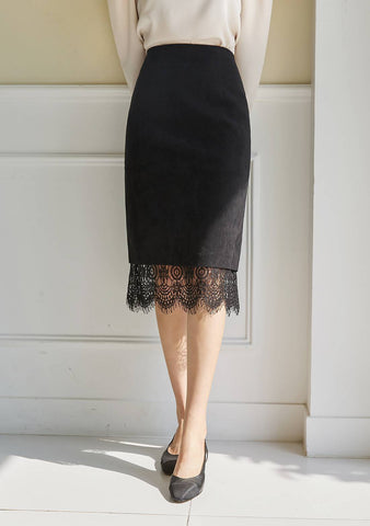 Why You Love Lace Hem Midi Skirt