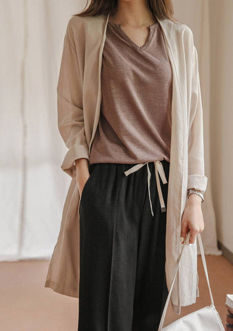 Essential Words Long Cardigan