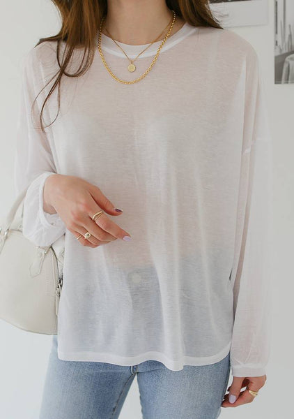 Silk Tencel Round T-Shirt