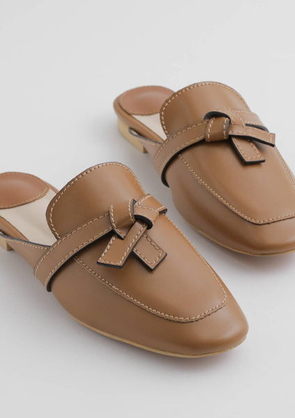 Ribbon Mules Loafers