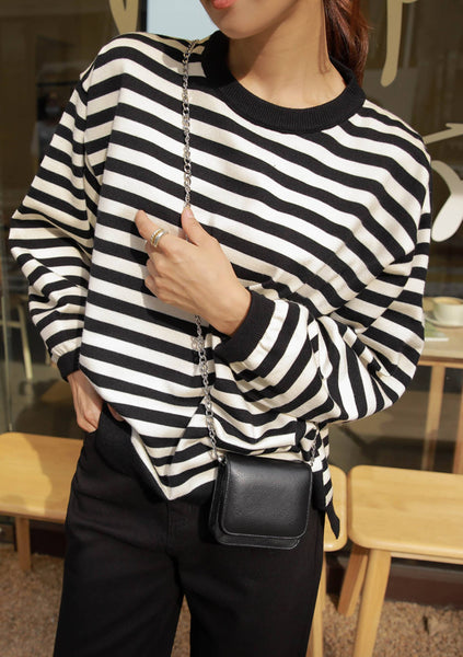 I See Right Through You Stripes Knit Top