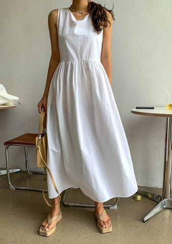 Tell Me Where You Have Been Linen Dress