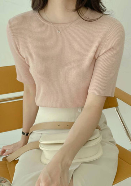 What Could This Be Short Sleeves Knit Top