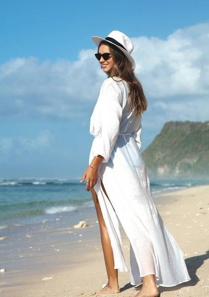 Pure White Long Robe