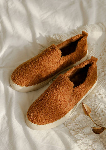 For A Perfect Winter Fleece Loafers