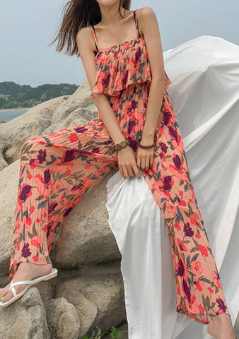 Tell You A Story Flower Jumpsuit