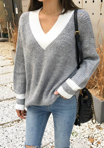 The Full Potential Trim Knit Sweater